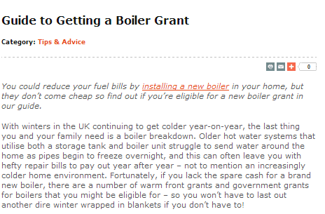 guide to getting a boiler grant